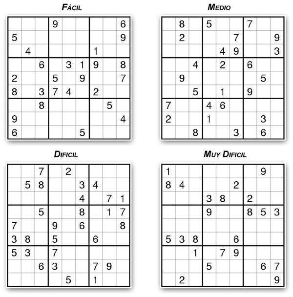 Niveles del Sudoku