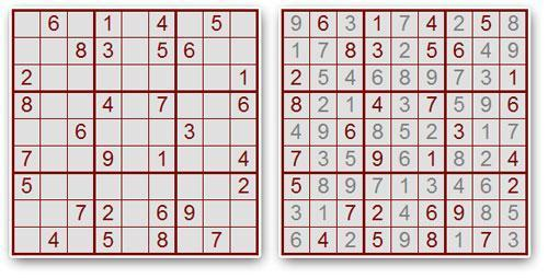 Solución de un Sudoku